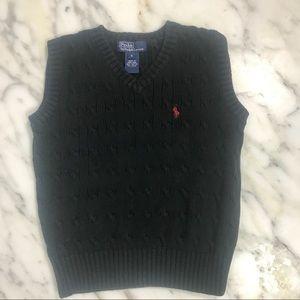 Ralph Lauren Sweater Vest, Black, Boys Sz 6